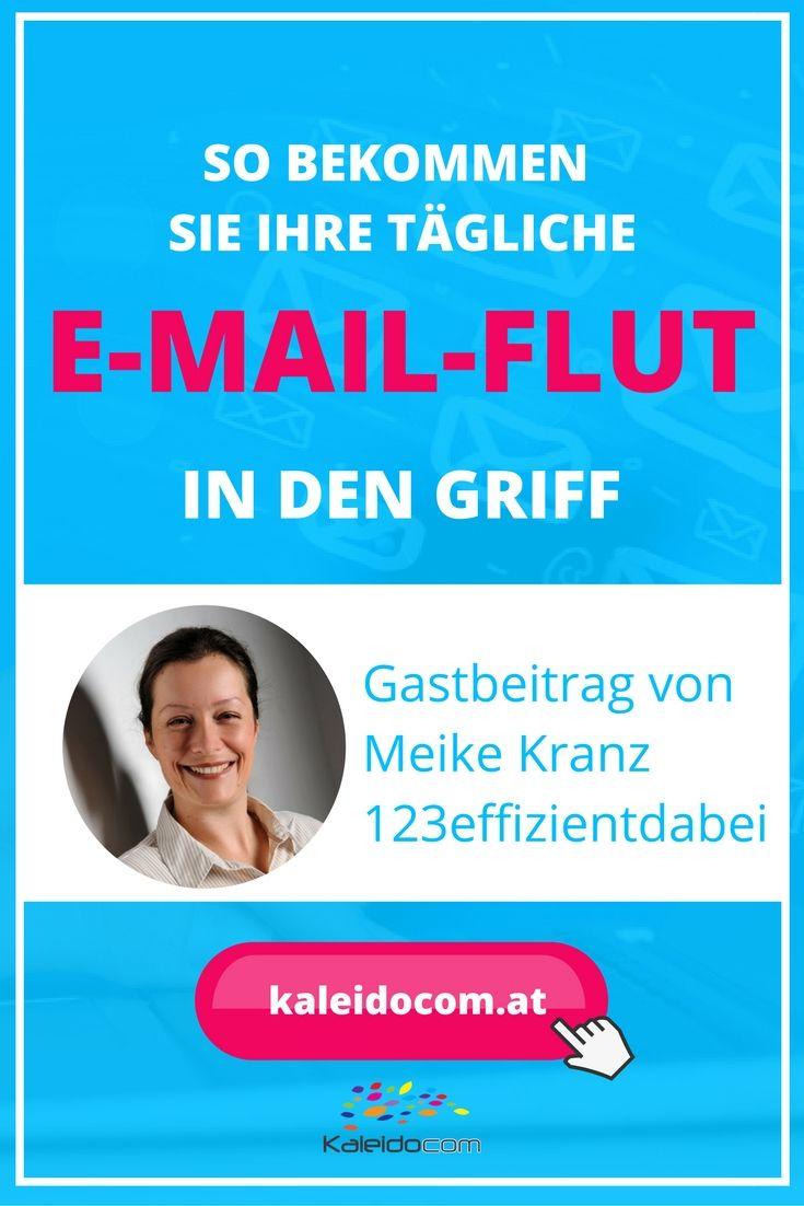 Wird Dein Postfach täglich mit E-Mails überschwemmt? Meike Kranz von @123effizientdabei ist Expertin für Büroorganisation und gibt Tipps, wie Du Deine tägliche E-Mail-Flut in den Griff bekommst.