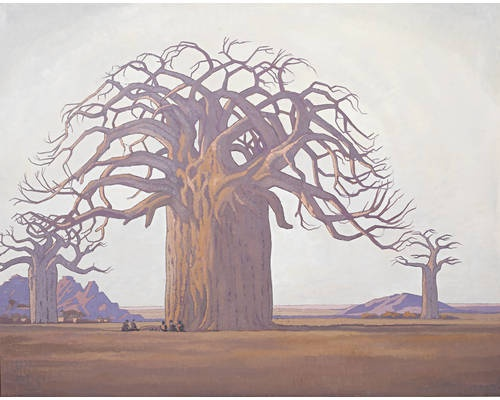 The Baobab Tree  by Jacobus Hendrik Pierneef
