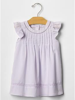 Pintuck ruffle dress | Gap