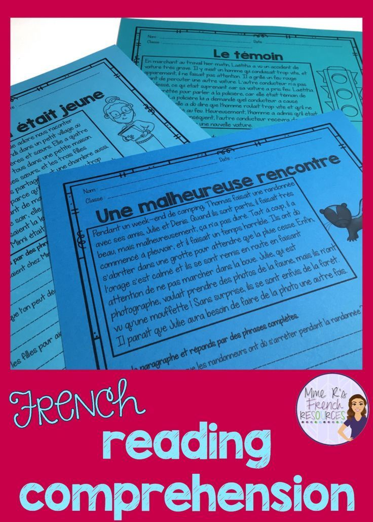 French reading comprehension | education games and ...