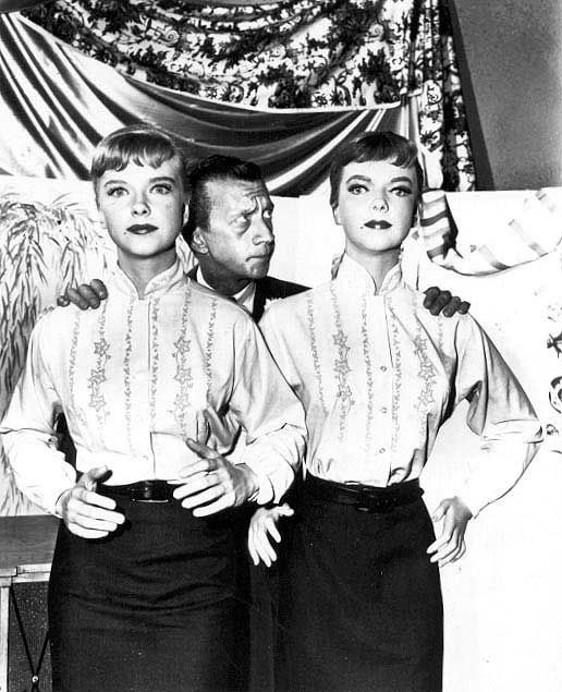 """Anne Francis, James Milhollin & doppelganger, """"The After Hours"""" (1960)."""