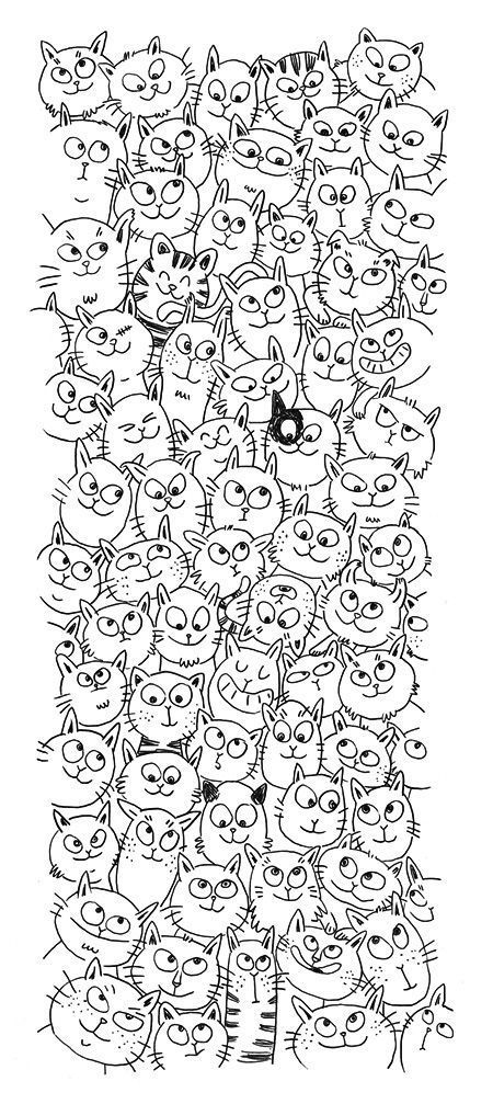 chat ch'est cool line drawings!