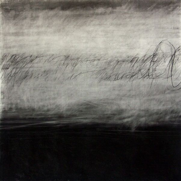 Peter Roux - SPRINGTIME PRAYER II CHARCOAL ON PAPER - 2008 - 36X36""