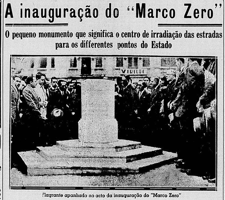 Inauguração do Marco Zero de São Paulo em 1934