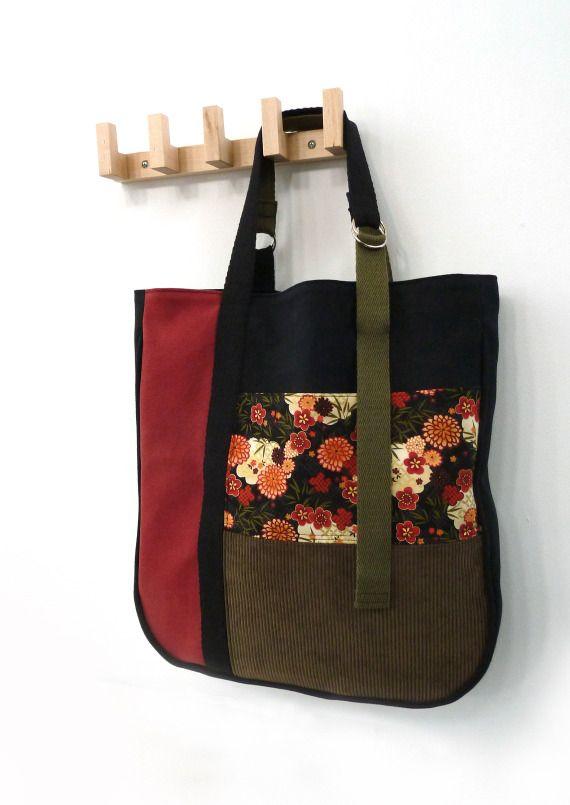 Bolso Maxi Tote Asian patchwork, Bolsos y carteras, Bolsos, Textil, Patchwork