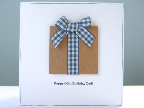 Personalised Birthday Card rustic birthday cards by FluffyDuck