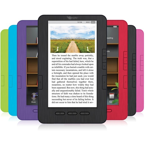 """Cheap ereader w/out WiFi for a preteen girl? -- Ematic EB105B 7"""" eBook Reader with Kobo eReading Software (Assorted Colors)"""