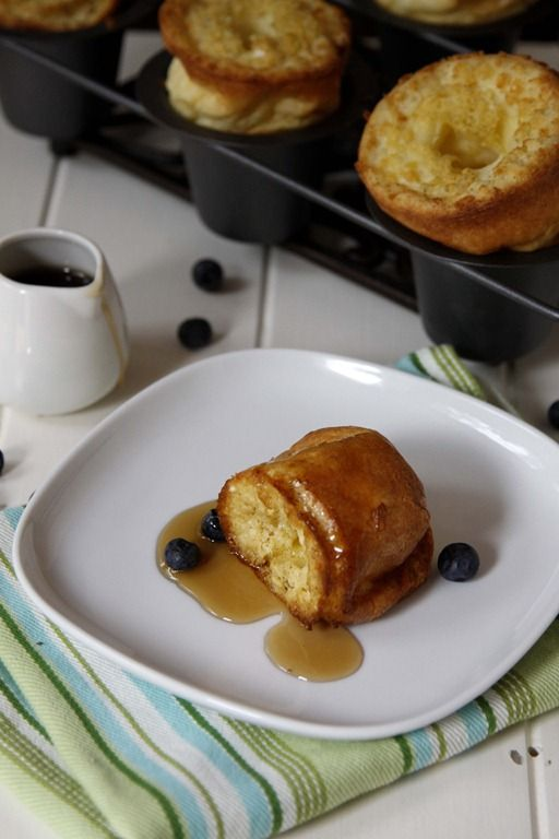 Sweet Cream Vanilla Popovers | Recipe | Sweet, Berries and Whipped ...