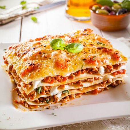 Rychlé lasagne s rajčaty a bazalkou (vege)
