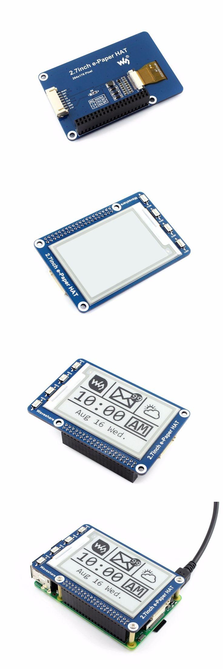 2.7''e-paper,264x176,2.7inch E-Ink display HAT for Raspberry Pi 2B/3B/Zero/Zero W,Color:Black,White,SPI Interface,No Backlight