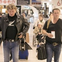 EXCLUSIVE Karl Stefanovic and Richard Wilkins look exhausted as they leave Sydney