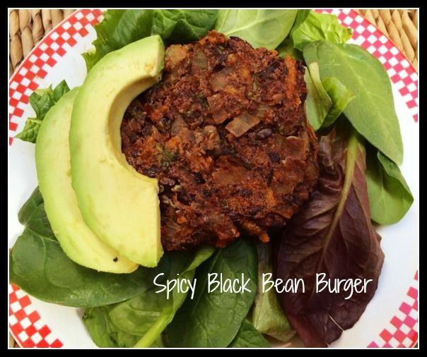 spicy black bean burger - good for Lent meat and dairy fasts