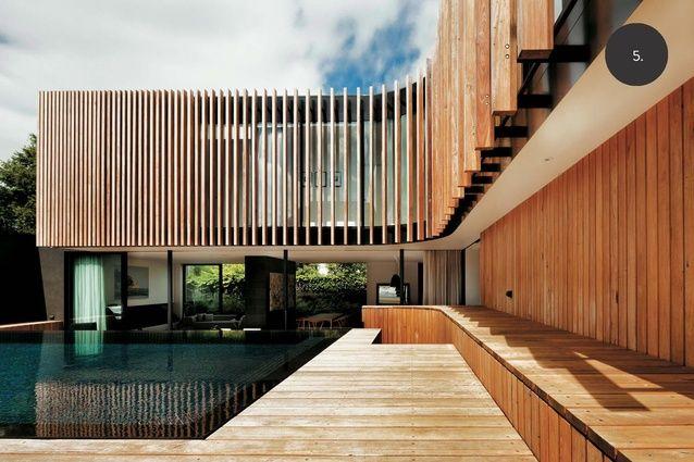 Toorak renovation by architect Matt Gibson - timber battens / screening