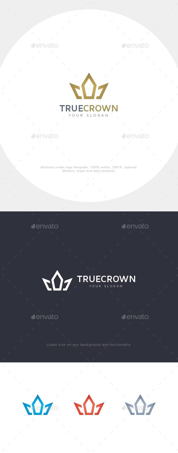 Download Free Graphicriver Abstract Crown Logo #coding #crown #development #elegant #luxury #minimalistic #royal #simple #startup #studio #team #wletter #wlogo