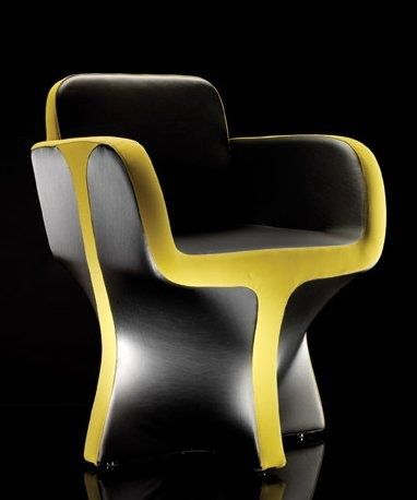 Салли кресло, Данило Чезана, футуристическая мебель, темно, желтый, современное кресло, футуристическое кресло, современная мебель, современный интерьер, на FuturisticNews.com