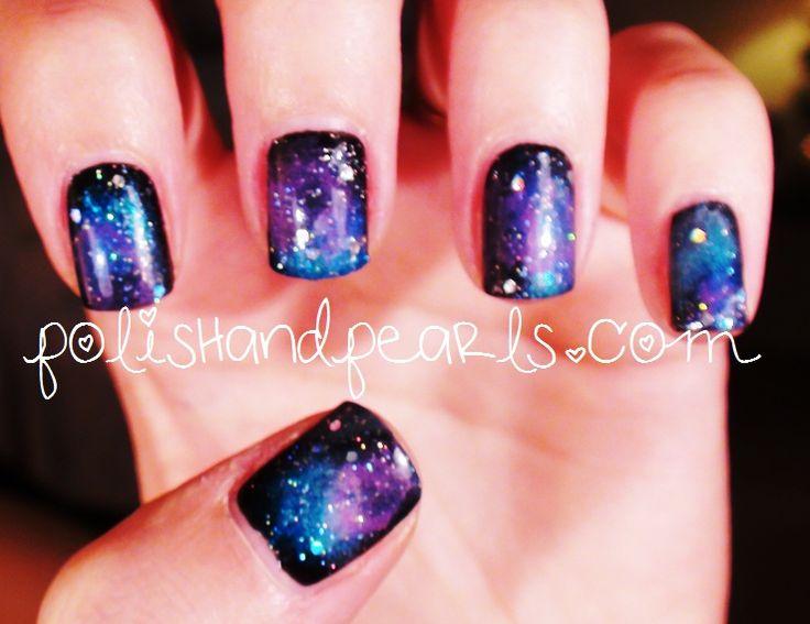 crazy galaxy nails!