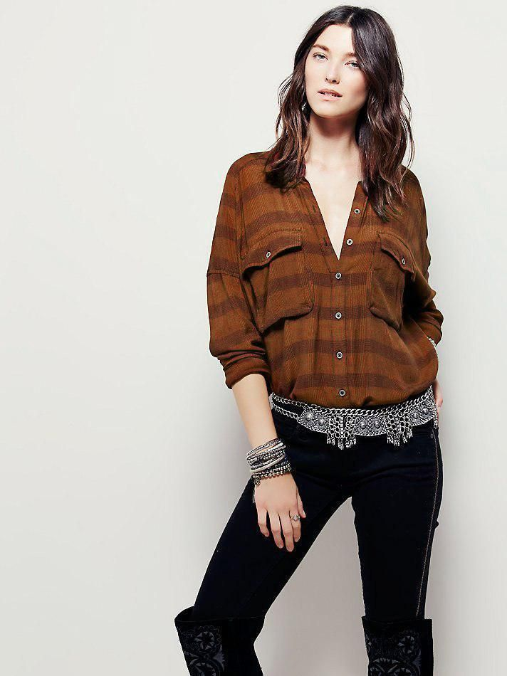 cdaa18b0b56 3507 Nwd Free People Fawn Over You Button Down Plaid Oversized Shirt Top XS   fashion  clothing  shoes  accessories  womensclothing  tops (ebay link)