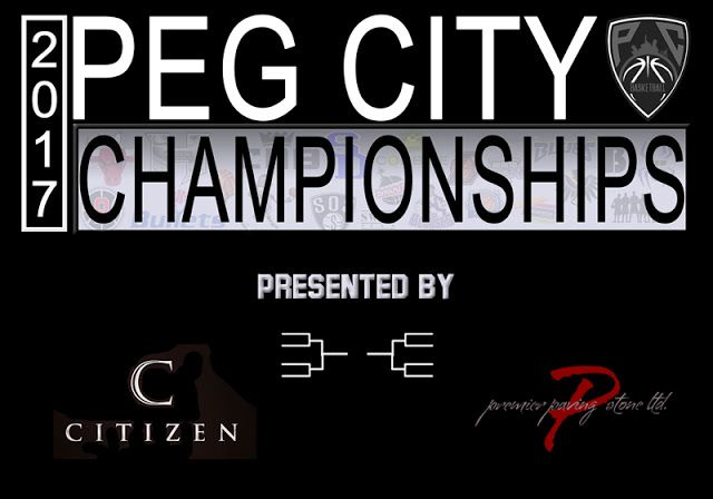 Peg City Basketball League Playoffs Coming April 2   Peg City Basketball has announced Citizen Nightclub and Premier Paving Stone Ltd will be sponsoring the 2017 Peg City Basketball Championships. The playoff schedules are...Schedules: The single elimination tournament starts this Sunday April 2 2017. Draws can be found here and the schedule has been posted atpegcityball.ca.Championship Sunday: Championship Sunday will be held on April 30th 2017 at CMU12:45 - Division 4 Championship Game…