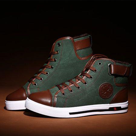 2014 nuovi uomini caldo inverno più velluto e cotone canvas sneaker moda uomo casual scarpe xmr083