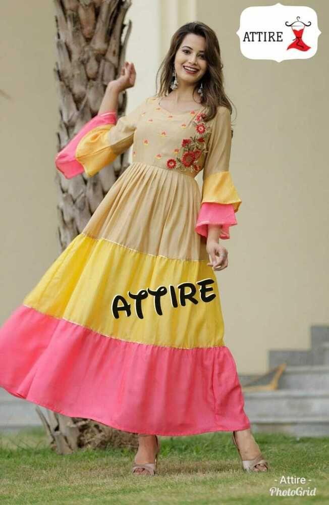 Indian Bollywood Designer western gown Kurta Kurti women ethnic dress pakistani