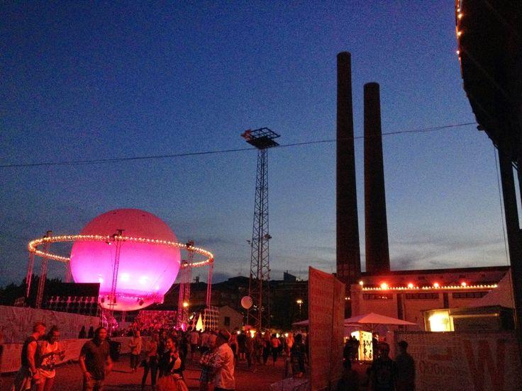 Flow festival 2014, Helsinki. Suvilahti.