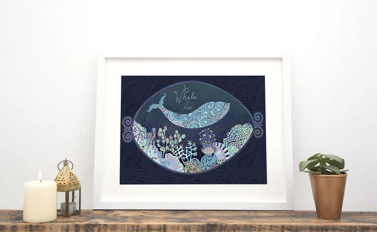 Animal Print collection. Whale love Hannah Davies http://www.hannah-designs.com