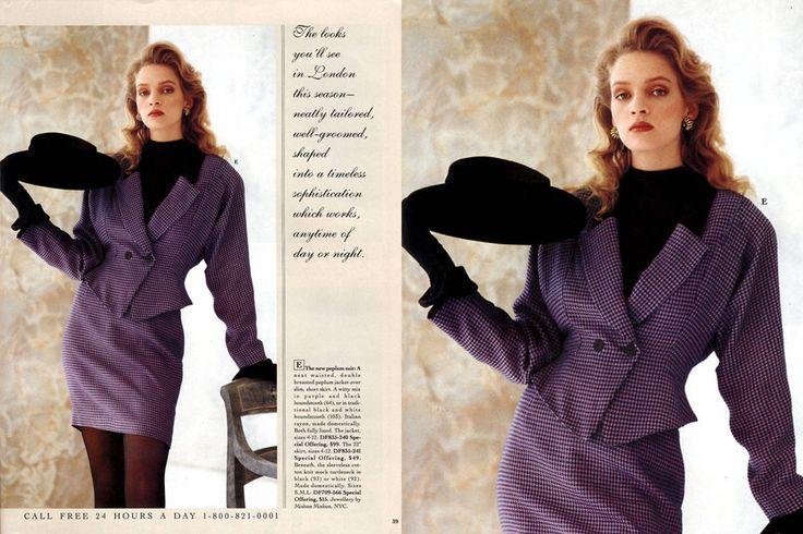 Rok 1988, Uma Thurman pozuje dla Victoria's Secret