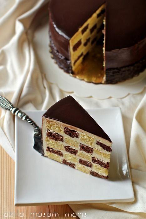 masam manis: CHECKERED CAKE