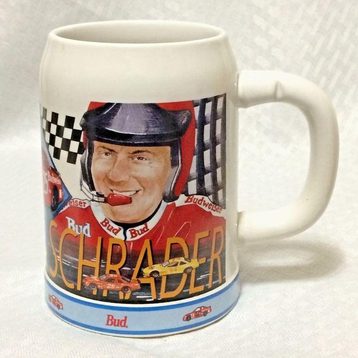 Budweiser Anheuser Busch Stein Mug 1995 Inaugural Year NASCAR Ken Schrader