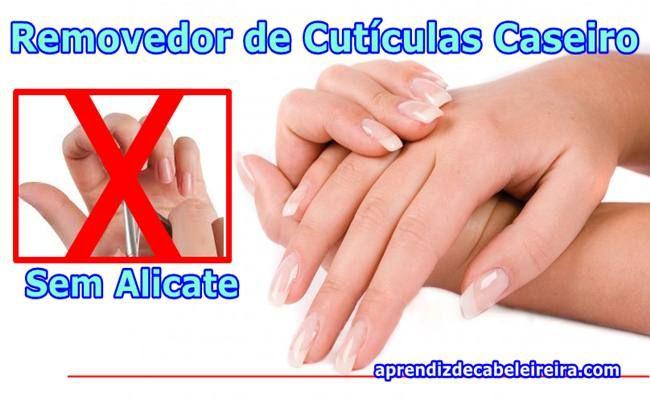 REMOVEDOR de CUTÍCULAS CASEIRO Poderoso SEM ALICATE - Dica Fácil e Barata http://www.aprendizdecabeleireira.com/2016/04/removedor-de-cuticulas-caseiro.html