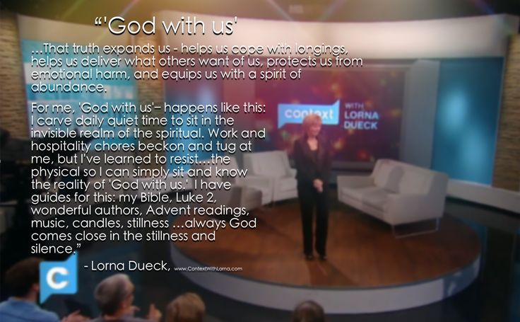 """Lorna on experiencing the reality of """"God with us""""--- Immanuel"""