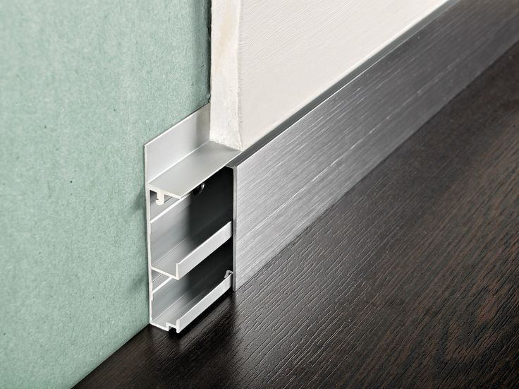 Aluminium Skirting board PROSKIRTING CHANNEL by PROGRESS PROFILES