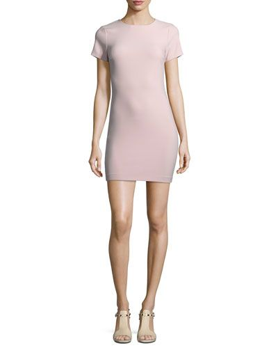 LIKELY MANHATTAN FITTED SHORT-SLEEVE MINI DRESS. #likely #cloth #