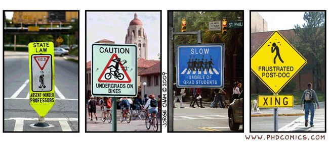 Campus street signs
