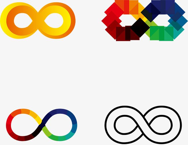 Unlimited Color Vector Symbols Vector Creative Digital 8 Infinity Symbol Color Symbol Png Transparent Clipart Image And Psd File For Free Download Color Vector Symbols Color
