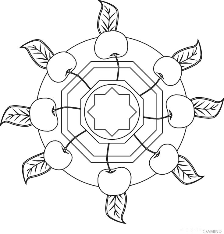 Free mandalas coloring > Plant Mandala Designs > Plant Mandala Design 1