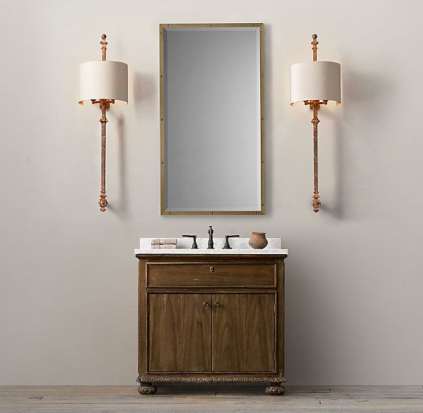French empire single vanity sink restoration hardware Empire bathrooms