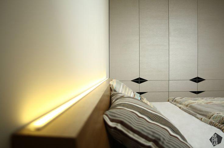 Návrh spálne - Interiér bytu Kadnárova, Bratislava - Interiérový dizajn / Bedroom interior by Archilab