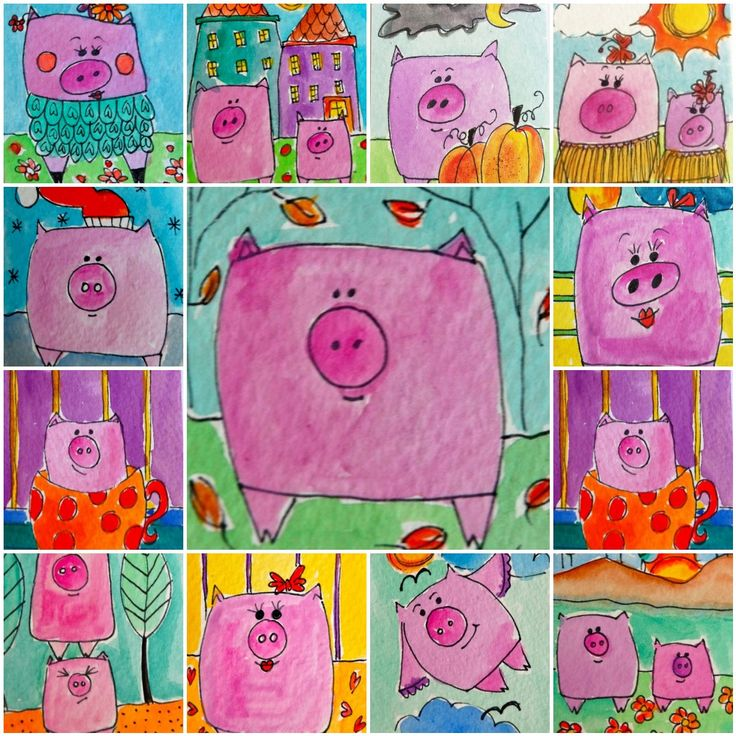 P is for PIGS! too cute. would be great for creating mental images (everyone's mental image is different)