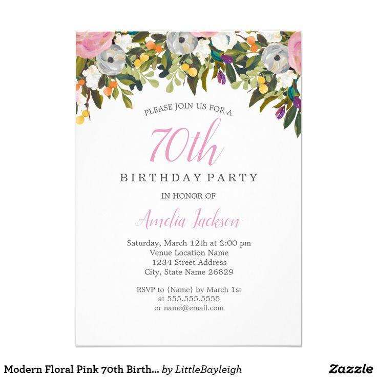 The 25+ best 70th birthday invitations ideas on Pinterest   80th ...
