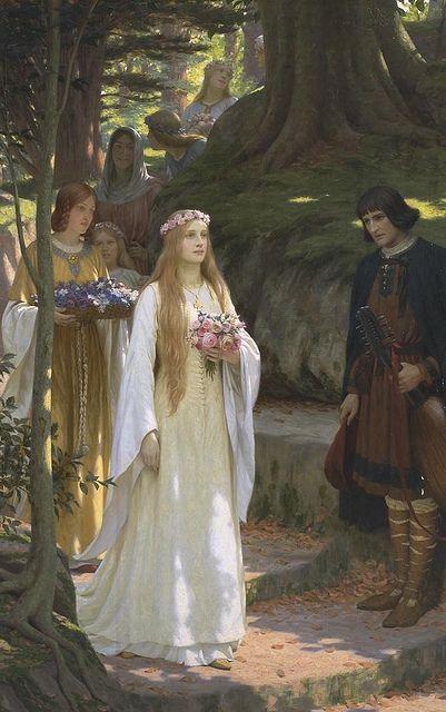"All sizes | Edmund Blair Leighton ""My Fair Lady"", via Flickr."