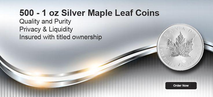 500 - 1oz Silver Maple Leaf Coins
