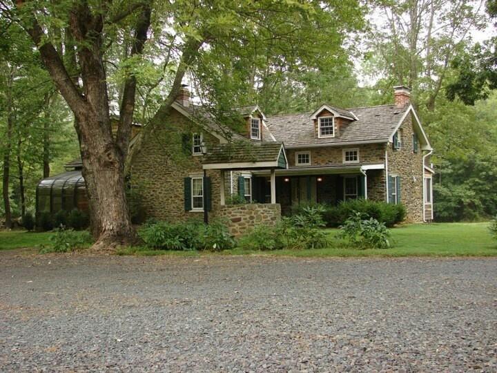 Stone Farmhouse Bucks County Pa Pennsylvania Stone