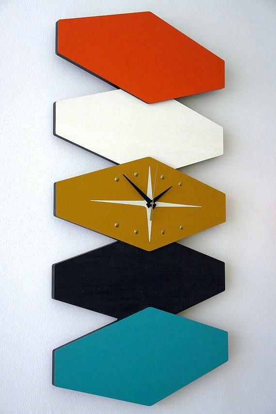 Interesting Mid Century Modern Wall Clocks Q0309558 Large Bi Directional A Mid Century Modern Wall Clock Mid Century Modern Wall Decor Mid Century Modern Walls