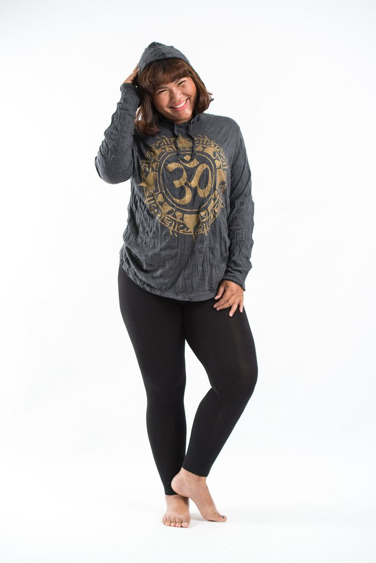 Plus Size Women's Hoodie Infinitee Ohm Gold on Black