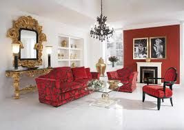 Image result for red and white living room