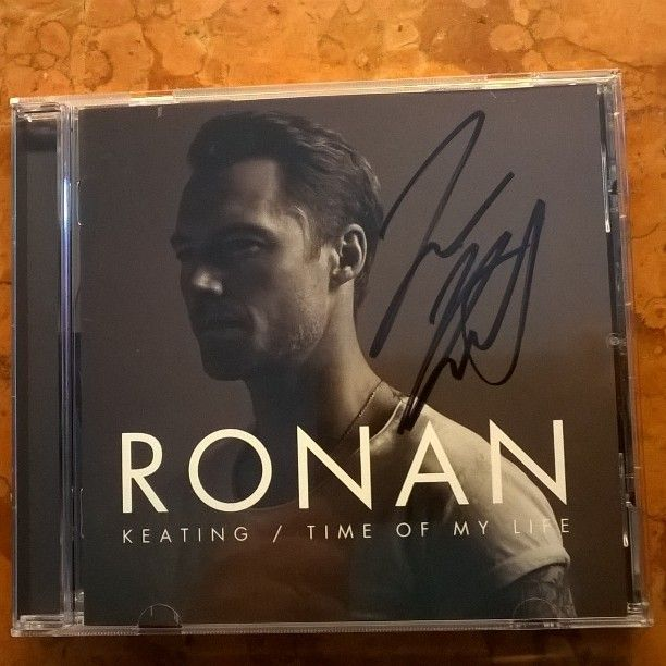 Just got it in my mail @rokeating ❤ Looking forward to listening to it  #ronankeating #newalbum #timeofmylife #happyfan