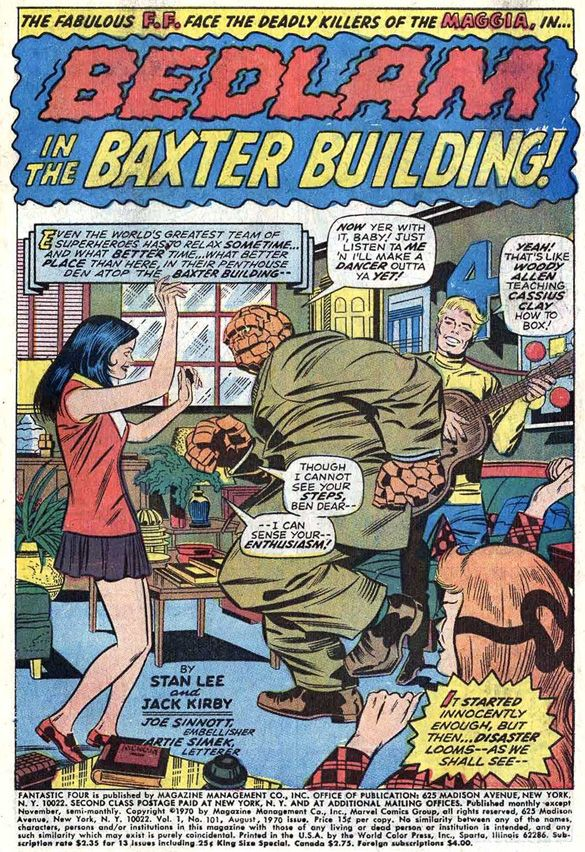 Fantastic Four 101 By Jack Kirby Comic CoversComic ArtComic BooksJack