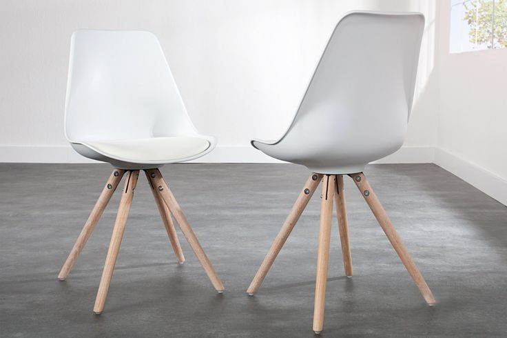 chaise design blanche et bois massif derby ii | @newkitchen ... - Chaise Blanche Et Bois