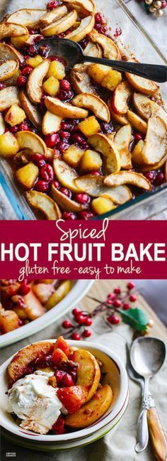 Easy Spiced Hot Fruit Bake! A delicious and healthy holiday breakfast bake! This…